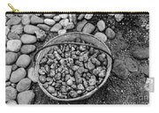 Bucket Of Rocks In Black And White Carry-all Pouch