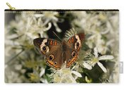 Buckeye On Wildflowers Carry-all Pouch