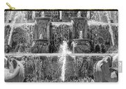 Buckingham Fountain Closeup Black And White Carry-all Pouch