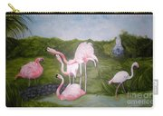 Buddah And The Flamingos Carry-all Pouch