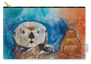 Buddha And The Divine Otter No. 1374 Carry-all Pouch