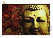 Buddha In Red Chrysanthemums Carry-all Pouch