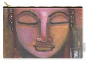 Buddha In Shades Of Purple Carry-all Pouch by Prerna Poojara