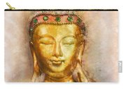 Buddha Peace Love And Light Carry-all Pouch