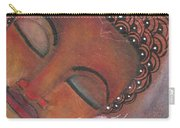 Buddha With Pink Lotus Carry-all Pouch by Prerna Poojara