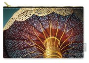Buddhas Path To Enlightenment, Golden Umbrella Carry-all Pouch