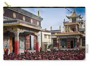 Buddhist Monastery In Full Attendance Carry-all Pouch by Nila Newsom