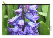Budding And Flowering Purple Hyacinth Flower Carry-all Pouch