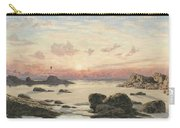 Bude Sands At Sunset Carry-all Pouch by John Brett