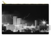 Budweiser  Brewery Lightning Thunderstorm Image 3918  Bw Pano Carry-all Pouch