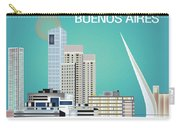 Buenos Aires Argentina Horizontal Skyline - Blue Carry-all Pouch
