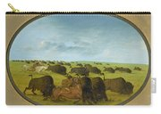 Buffalo Chase With Accidents Carry-all Pouch