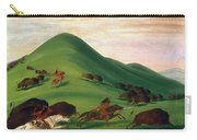 Buffalo Hunt, 1830s Carry-all Pouch