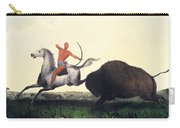 Buffalo Hunt, 1832 Carry-all Pouch
