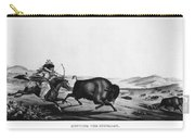 Buffalo Hunt, 1837 Carry-all Pouch