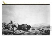Buffalo Hunt, C1830 Carry-all Pouch