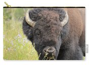 Buffalo In Flowers Carry-all Pouch