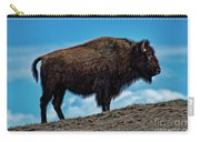 Buffalo In Profile Carry-all Pouch