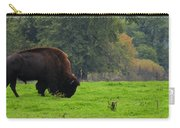 Buffalo In Spring Grass Carry-all Pouch