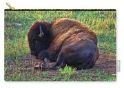 Buffalo In The Badlands Carry-all Pouch