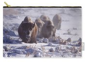 Buffalo In The Fog-signed-##6995 Carry-all Pouch