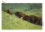 Buffalo On Hillside Carry-all Pouch