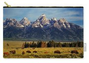 Buffalo Under Tetons 2 Carry-all Pouch