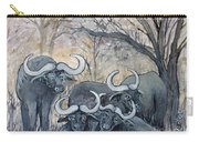 Buffaloes In The Bushveld Carry-all Pouch