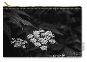 Bug On Flowers Black And White Carry-all Pouch