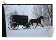 Buggy On Winter Road Carry-all Pouch