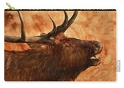 Bugling Bull Elk Autumn Background Carry-all Pouch