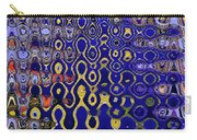 Building Of Circles And Waves Colored Yellow And Blue Carry-all Pouch