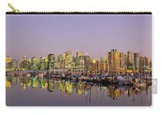Buildings Lit Up At Dusk, Vancouver Carry-all Pouch
