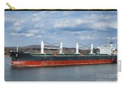 Bulk Carrier Cargo Ship Sailing On River Carry-all Pouch