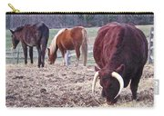 Bull And Horses, Mt. Vernon Carry-all Pouch