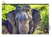 Bull Elephant Threat Carry-all Pouch