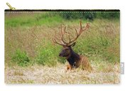 Bull Elk At Rest Carry-all Pouch