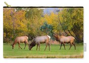 Bull Elk  Bugling With Cow Elks - Rutting Season Carry-all Pouch