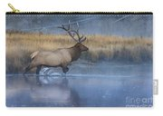 Bull Elk Crossing The Madison River Carry-all Pouch