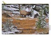 Bull Elk Feeding In Winter Carry-all Pouch
