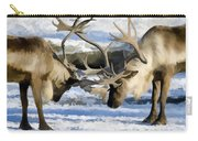 Bull Elk Fighting  Carry-all Pouch