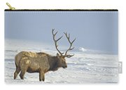 Bull Elk In Snow Carry-all Pouch