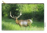 Bull Elk In Velvet  Carry-all Pouch by Jeff Swan