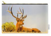 Bull Elk Resting In The Grass Carry-all Pouch
