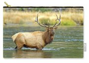 Bull Elk Wading The Madison River Carry-all Pouch