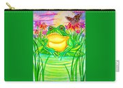Bull Frog And The Moon Carry-all Pouch