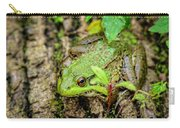 Bull Frog On A Log Carry-all Pouch