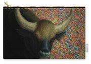 Bull In A Plastic Shop Carry-all Pouch by James W Johnson