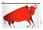Bull Looks Like Cave Painting Carry-all Pouch by Michal Boubin