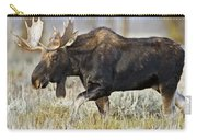 Bull Moose Crossing The Sage  Carry-all Pouch